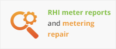 RHI meter reports and metering repair