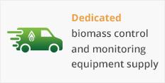 Dedicated biomass control and monitoring equipment supply
