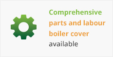 Comprehensive parts and labour boiler cover available