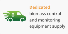 Dedicated biomass control and monitoring equipment supply